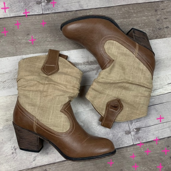 f575d0b710e Rocket Dog brown & cream cowboy boots size 6
